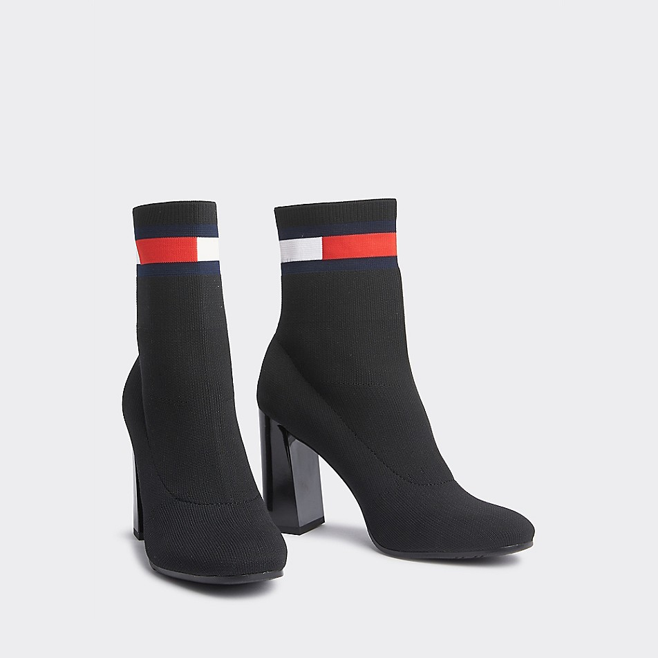 Knit Heeled Ankle Boot