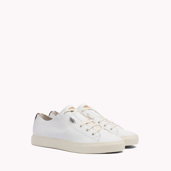 Unlined Leather Running Trainers - Sales Up to -50% Tommy Hilfiger