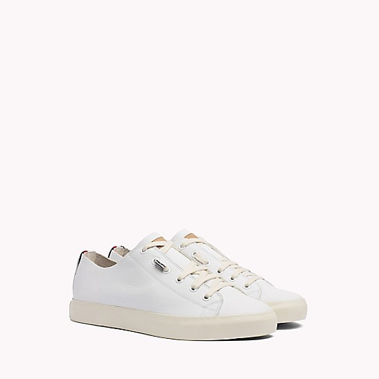 Unlined Leather Running Trainers - Sales Up to -50% Tommy Hilfiger 5e5w1uOnUO