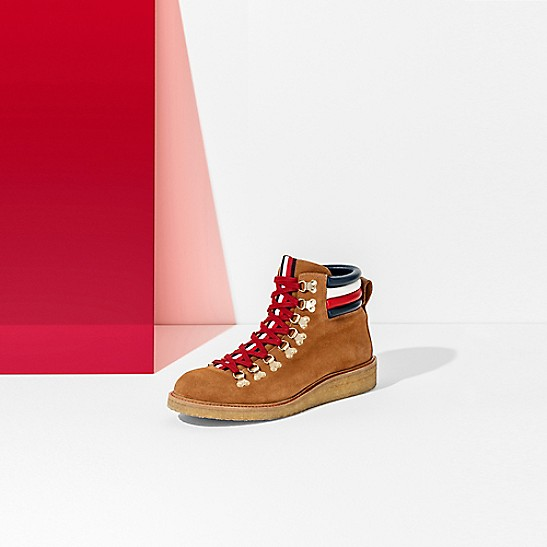 Band Stripe Hiking Boot Tommy Hilfiger Hiking Boots Shoes