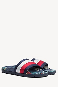 abb308296527 TOMMY HILFIGER. Hawaiian Print Sneaker.  75.50. MIDNIGHT. Final Sale.  Tropical Print Pool Slide