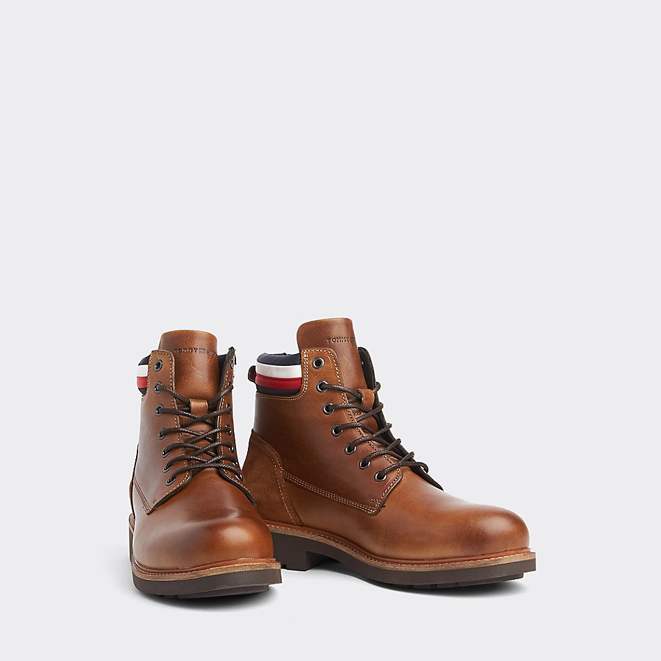 Icon Stripe Leather Boot