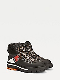 Lewis Hamilton Shearling Chunky Boots   Tommy Hilfiger
