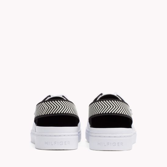 OPEN BACK LEATHER SNEAKER - Sales Up to -50% Tommy Hilfiger
