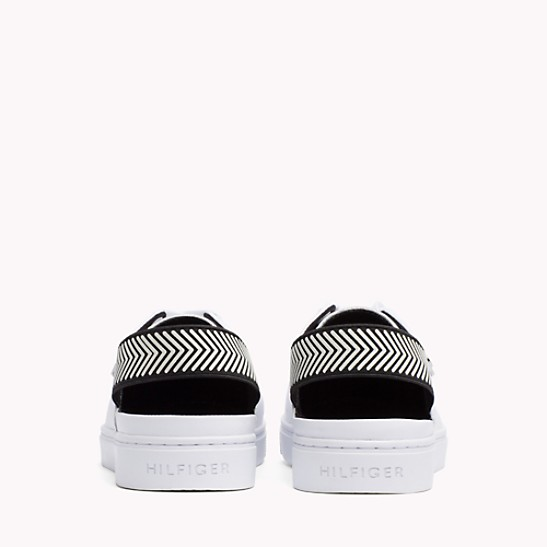 OPEN BACK LEATHER SNEAKER - Sales Up to -50% Tommy Hilfiger BJMEGqhS