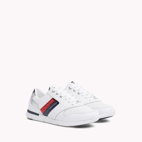 Tommy Hilfiger LIGHT WEIGHT LACE UP - Trainers - white