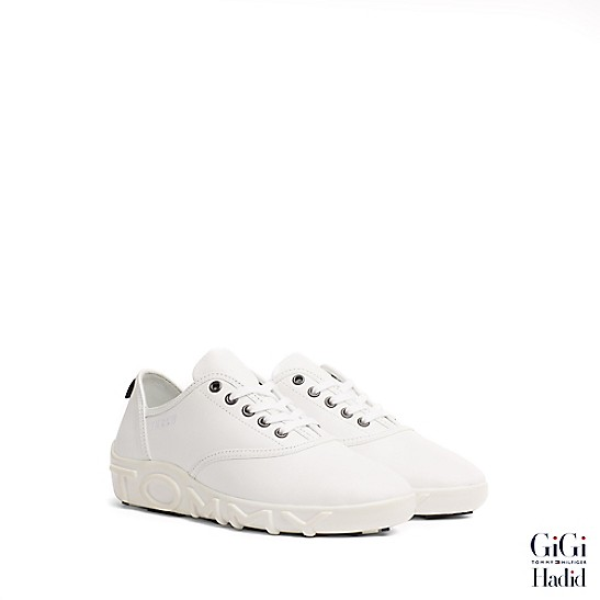 Gigi Hadid Leather Sneaker - Sales Up to -50% Tommy Hilfiger Popular And Cheap With Mastercard Online Best Wholesale Cheap Online dUYTFZzz9
