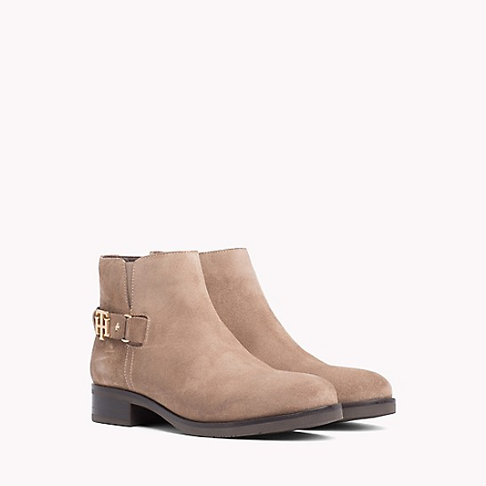 90c152d2f FINAL SALE Buckle Suede Ankle Boot