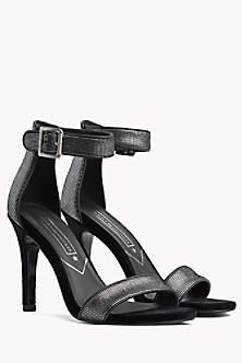 bc447cdb124 Metallic Suede Heeled Sandal