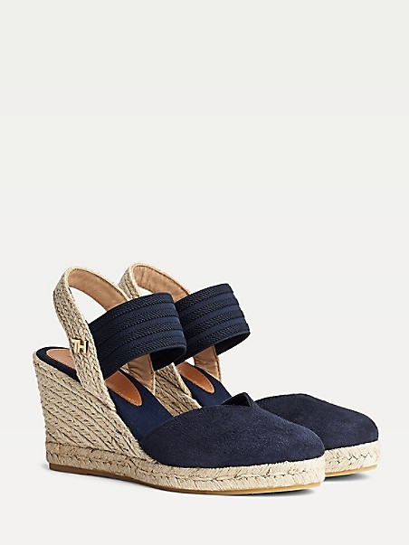 TOMMY HILFIGER Closed-Toe Suede Wedge