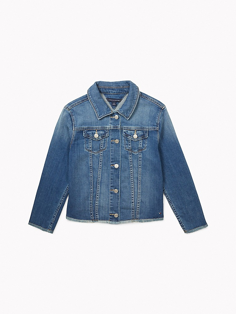 NEW TO SALE Essential Frayed Denim Jacket