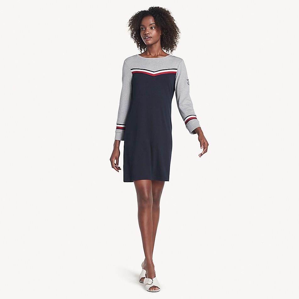 Essential Chevron Sweatshirt Dress
