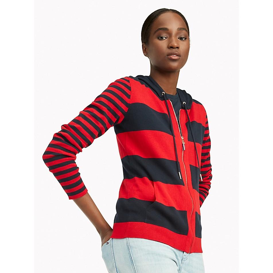 Essential Mixed Stripe Hoodie Sweater