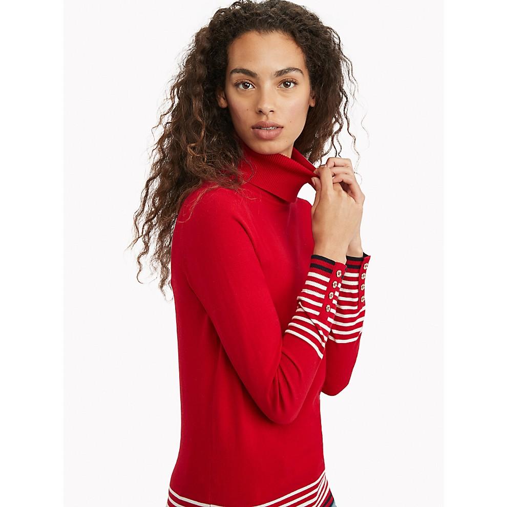 NEW Stripe Turtleneck Sweater