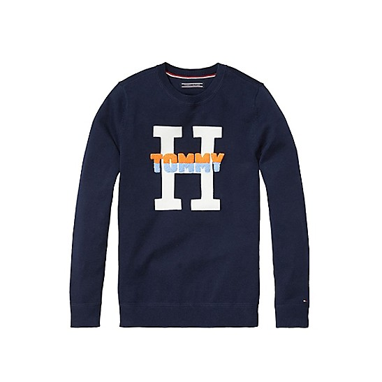 beb49d76 Final Sale-TH Kids H Crewneck Sweater | Tommy Hilfiger