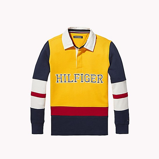 Tommy Jeans Colorblock Rugby Shirt | Polo shirt outfit
