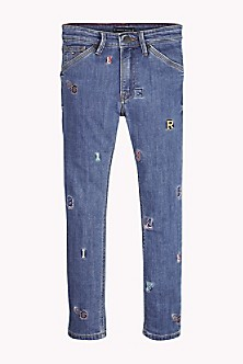 4d5879d2 TH Kids Straight Fit Letter Jean