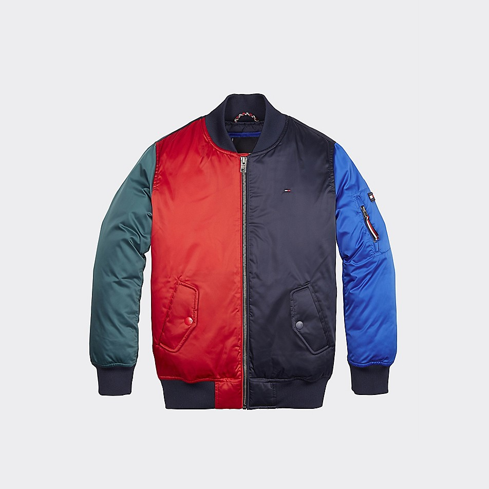 NEW TH Kids Colorblock Bomber