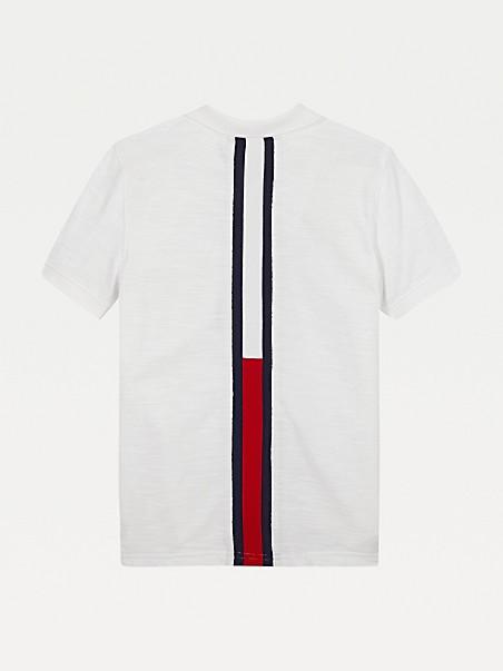 TOMMY HILFIGER TH Kids Back Logo Stripe Polo
