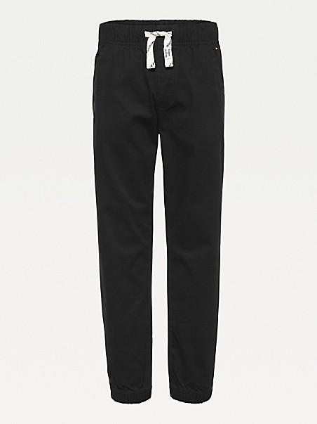 타미 힐피거 보이즈 팬츠 Tommy Hilfiger TH Kids Organic Cotton Drawstring Pants,black