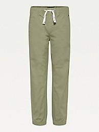 타미 힐피거 보이즈 팬츠 Tommy Hilfiger TH Kids Organic Cotton Drawstring Pants,desert tan