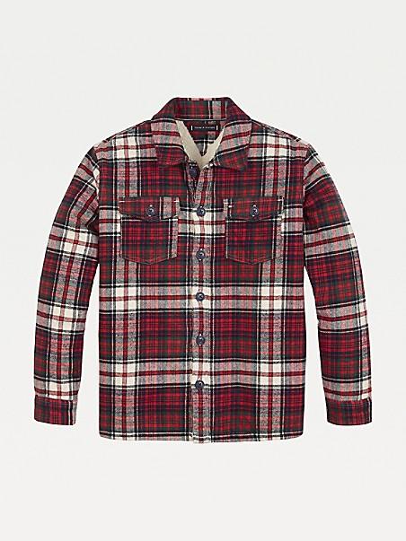 TOMMY HILFIGER TH Kids Fur Lined Check Jacket