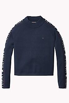 8aaef05066 TH Kids Logo Mockneck Sweater