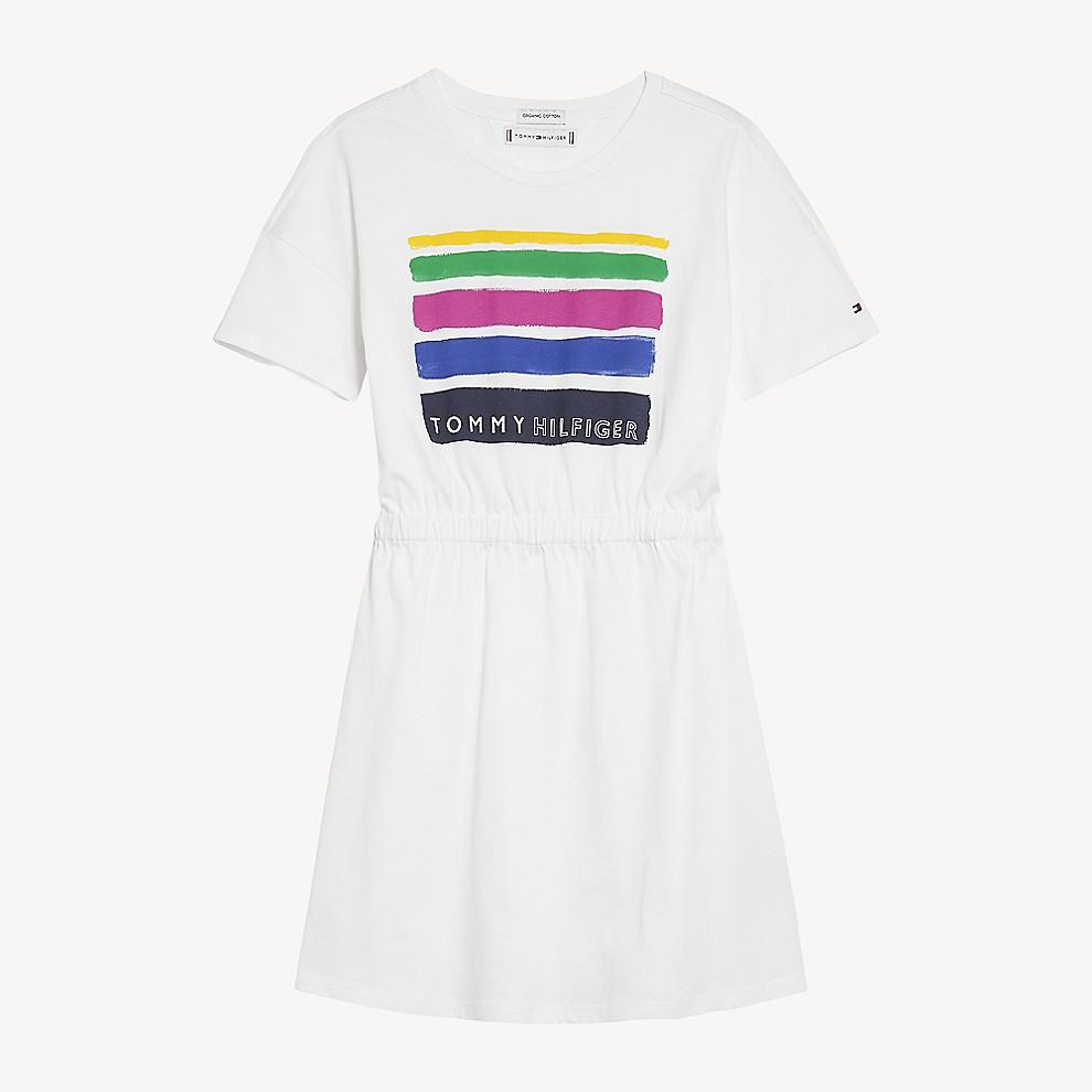 NEW TH Kids Paint Stripe Dress