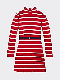 타미 힐피거 걸즈 스트라이프 스케이터 원피스 Tommy Hilfiger TH Kids Stripe Skater Dress,RED STRIPE