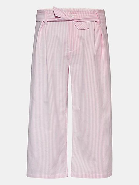 타미 힐피거 걸즈 팬츠 Tommy Hilfiger TH Kids Ithaca Stripe Pant,cotton candy