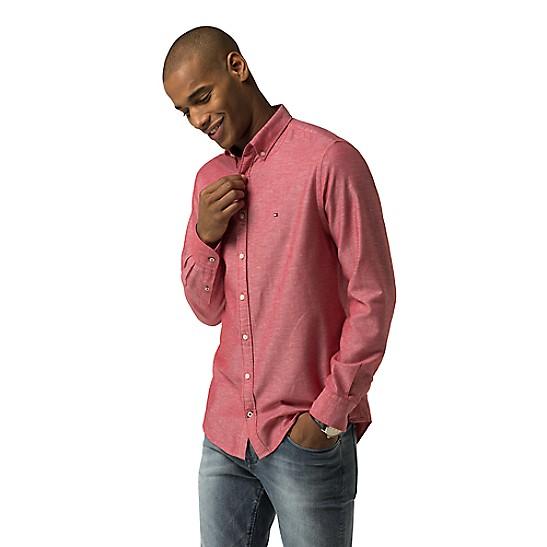 e96d5f5e Final Sale-New York Fit Crisp Cotton Linen Shirt | Tommy Hilfiger