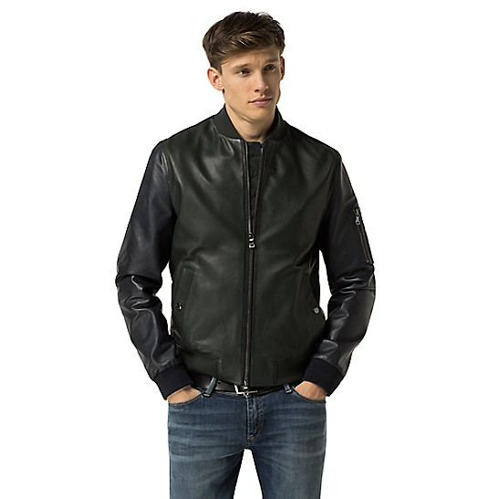 88595c6dc Leather Bomber Jacket | Tommy Hilfiger