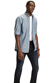 Chambray Slim Fit Workwear Shirt