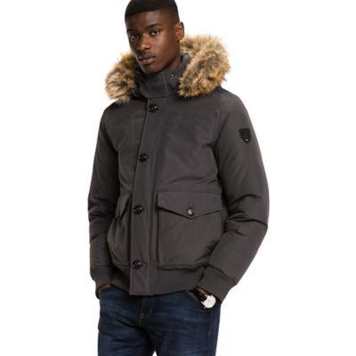 Tommy jeans bomber parka jacket black
