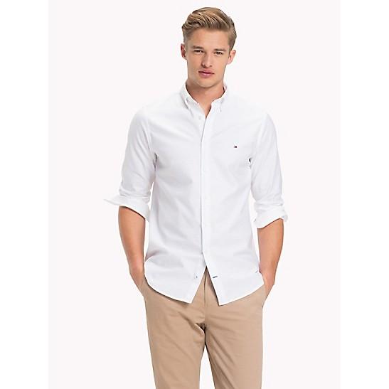 Tommy Hilfiger Tommy Hilfiger Slim Fit Stretch Cotton Shirt Bright White