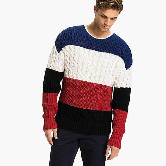oversize colorblock sweater