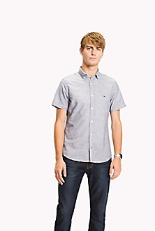 Mixed Stripe Cotton Shirt L - Sales Up to -50% Tommy Hilfiger Buy Cheap Online VS9ciblh