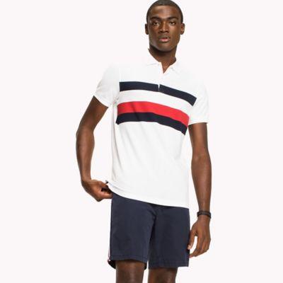 Chest Stripe Slim Fit Polo