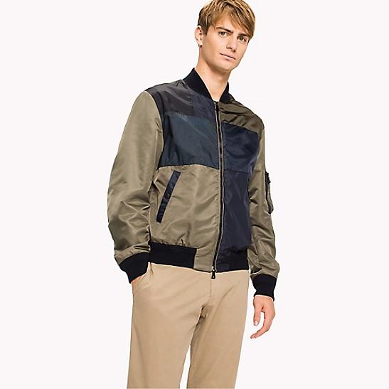 Tommy Hilfiger Men's Colorblocked Logo Bomber Jacket Coats