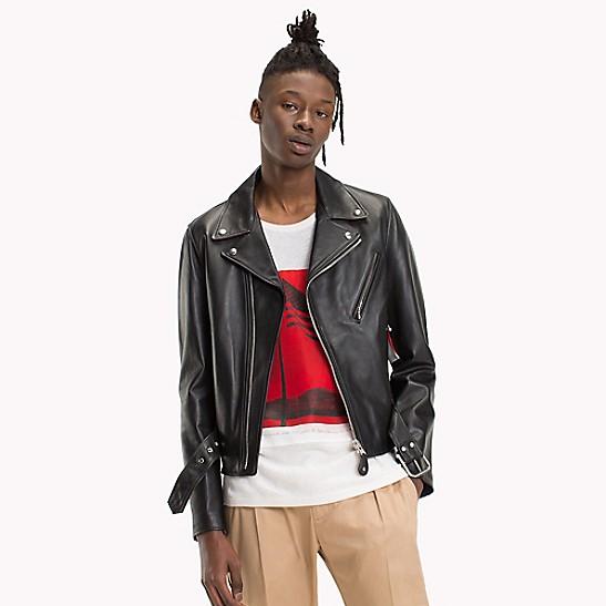 Leather Asymmetric Biker Jacket