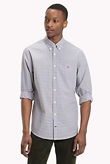 eef7f2f79a Cotton Poplin Gingham Shirt