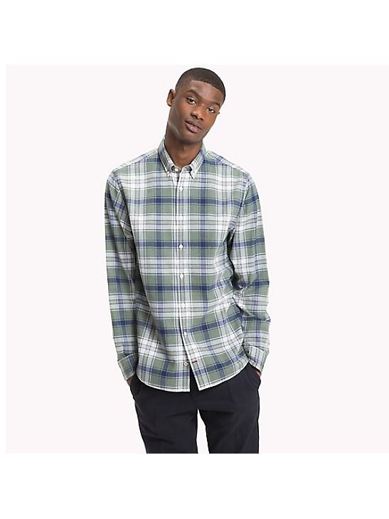 Tommy Hilfiger Mens Herringbone Button Up Shirt
