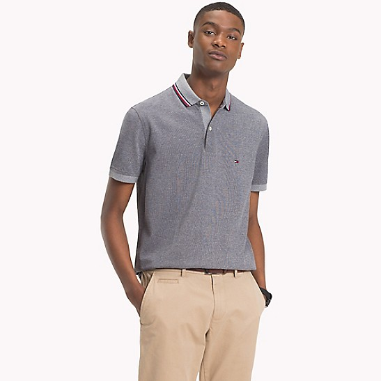 2108a42a Oxford Tipped Pique Polo | Tommy Hilfiger