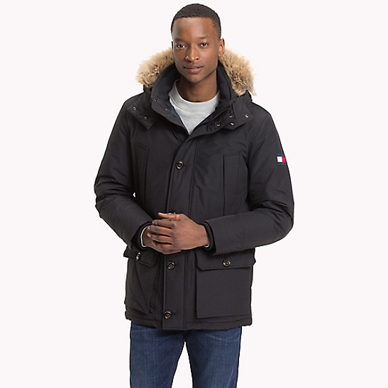 tommy hilfiger denim down parka jacket