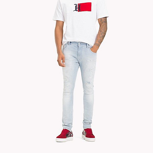 save off 81b8a f5418 Lewis Hamilton Distressed Jeans