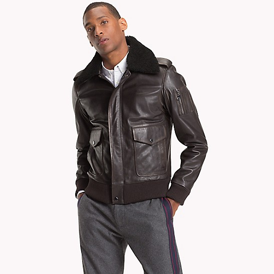 11be696134 NEW TO SALE Shearling Collar Aviator Jacket