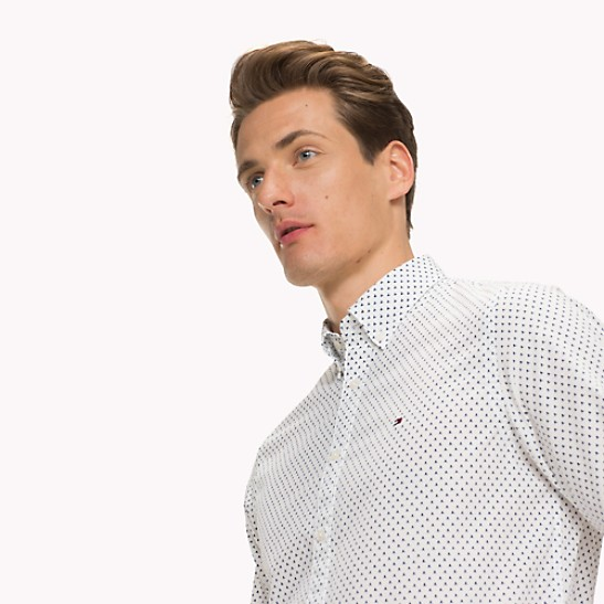 59e154b5e NEW TO SALE Cotton Poplin Microprint Shirt