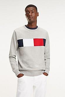 ee5aec951 TOMMY HILFIGER. Wool Stripe Sweater.  149.50 69.99. SNOW WHITE. Final Sale.  Essential Flag Sweatshirt