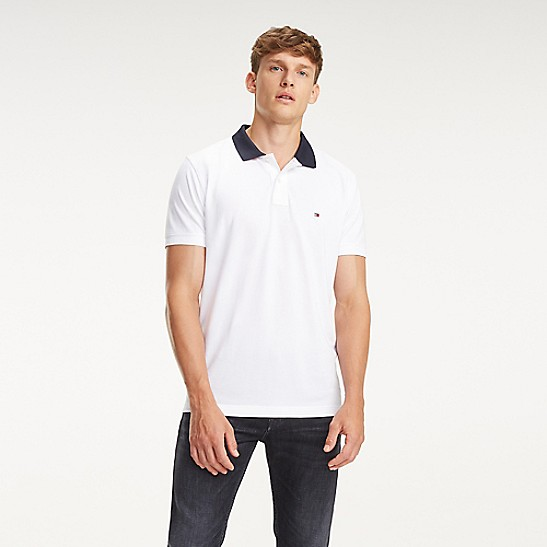 815cf0216 Regular Fit Logo Collar Polo | Tommy Hilfiger