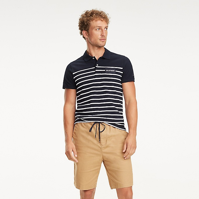 NEW TO SALE Slim Fit Nautical Stripe Polo